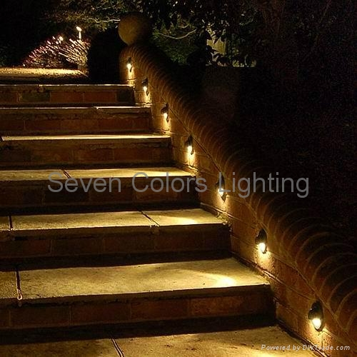 Low Voltage Outdoor Recessed LED Stair Light SC B106 Seven Colors China