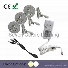 3W Round LED Puck Light Kit (SC-A110A)