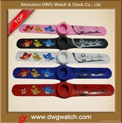 silicon slap watch for promotion gift