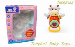 B/O light musical cloth plush toys