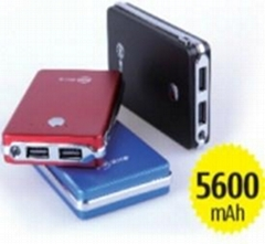5600mAh Power bank  portable battery charger for tablet pc and cell phone
