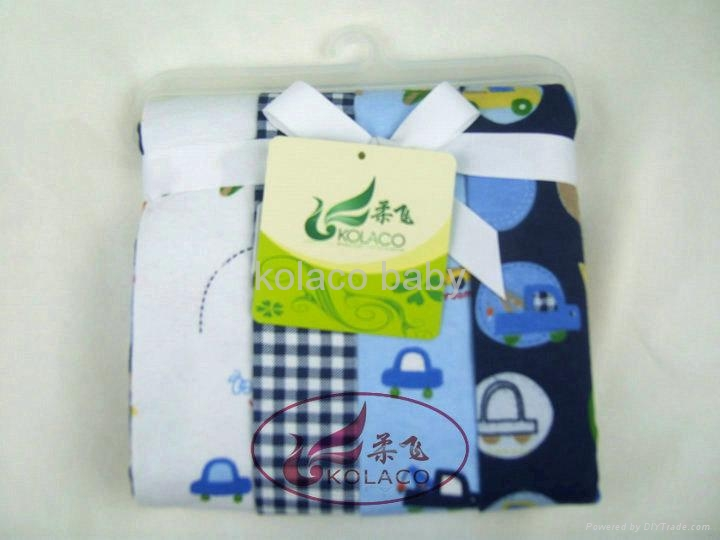 Ms 18 custom printed muslin gots certified organic cotton baby swaddling blankets