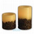 1,000hrs Coffee Bean Wax Flameless LED