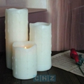 2,000hrs Wax Flameless LED Candle with 4