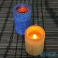 Distressed Wax Flameless LED Candle with
