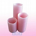 Pink Wax Flameless LED Candle with