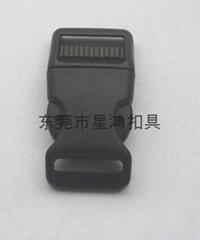 25mm寵物帶彎形插扣