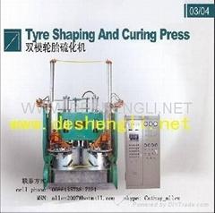 Hydraulic tire curing press