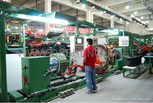 Tire producing line 1