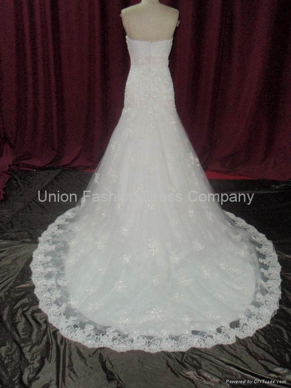 Popular & hottest Wedding gown in heavy beaded lace and satin from 2010 to now  3