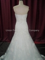 Popular & hottest Wedding gown in heavy beaded lace and satin from 2010 to now  4