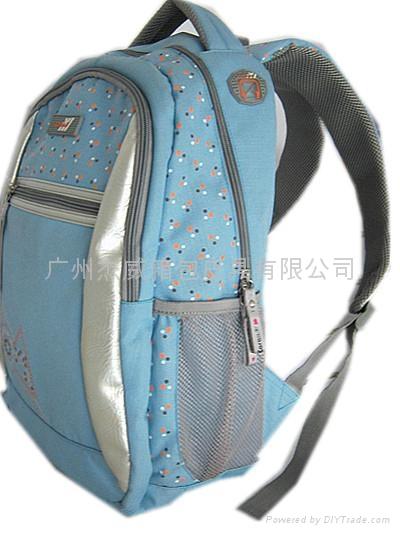 休闲蓝色双肩包 2