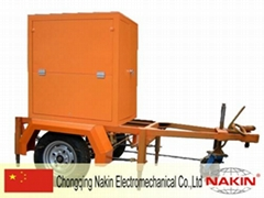Mobile type vacuum insulating oil purifier