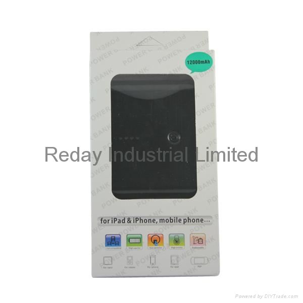 12000mAh Mobile Power Supply for iPad & iPhone & Mobile Phone & PSP & Table PC 5