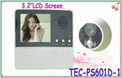 "Supply Good Quality Video Door Camera with 3.2"" LCD TEC-PS601D-1"