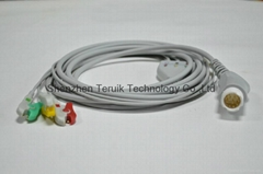 HP ECG Cable one piece 3-Lead with Clip IEC (Hot Product - 1*)