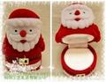 圣诞老人植绒首饰品耳环情侣对戒