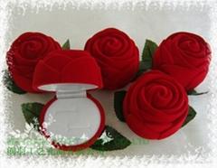 植绒礼品珠宝首饰品纸耳环情侣对戒指盒