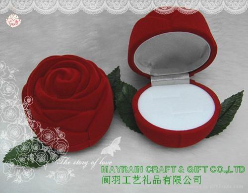 植绒礼品珠宝首饰品纸耳环情侣对戒指盒 2
