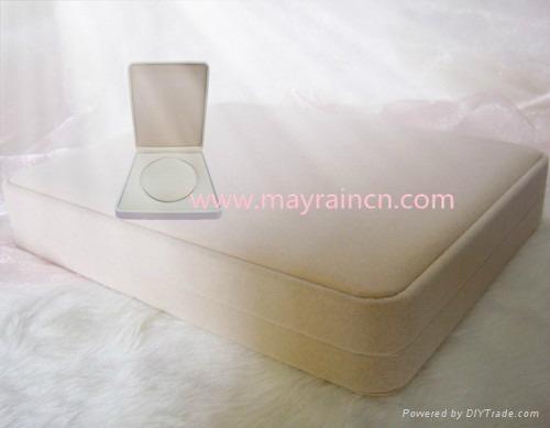 植绒礼品珠宝首饰品纸盒项链化状品包装盒项饰 1