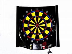 Wall mounted dartboard