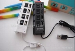 USB2.0 4ports HUB with switches