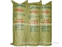 Potassium needled filter blanket