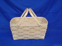 swing handle picnic basket