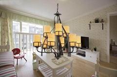 現代歐式鐵藝吊燈
