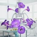 佺球現代藝朮玻璃紫色家居吊燈