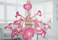 佺球歐式藝朮玻璃粉紅色客廳吊燈