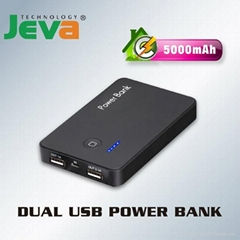 for ipad 2 iphone ipod Dual USB Power Bank for cellphone