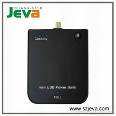 micro USB power bank for MOTO blackberry 2800mAh