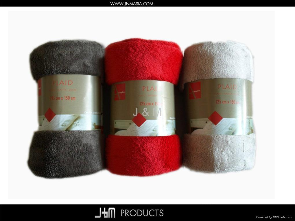Cheap Micro-raschel Fleece Throw Plaid 2
