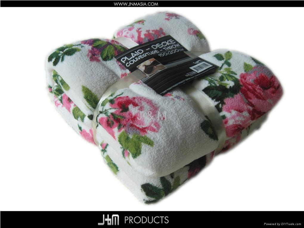 2012 Hot Printed Coral Fleece Blanket 2
