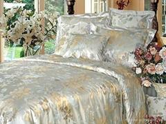 100% Handmade Natural Silk Jacquard Quilt