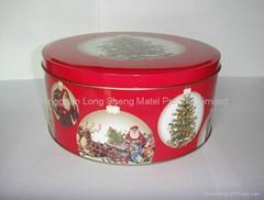 round candy tin box