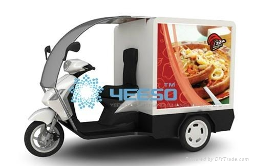 Scooter Advertising Trailer Mobile Pizza Advertising Lightbox 2