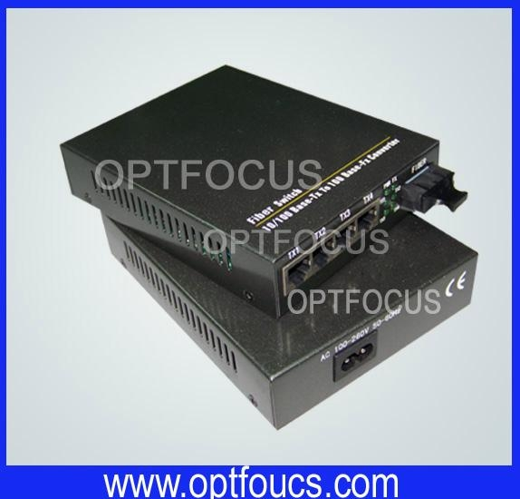 5 ports Gigabit Ethernet Optical Fiber Switch 3