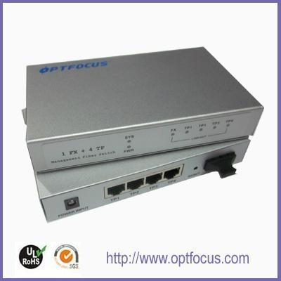 5 ports Gigabit Ethernet Optical Fiber Switch 4