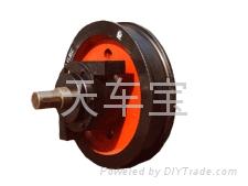 φ250單邊主動車輪組 軸承型號-7512 鑄鋼