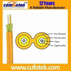 Indoor duplex fiber optical cable  (GJFJV)