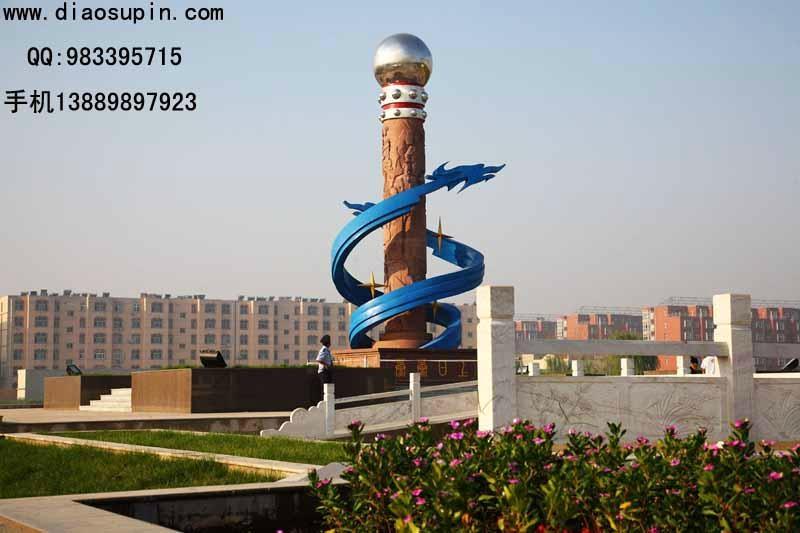 中国石雕盘龙柱 2