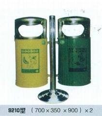 不鏽鋼雙面垃圾筒