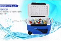 36L 塑料攜帶方便式冷藏箱