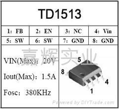 PWM DC/DC TD1513降压IC 1