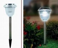 Solar stainless steel light