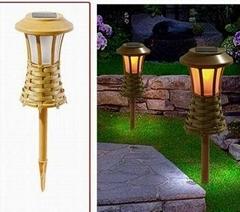 Solar bamboo garden light