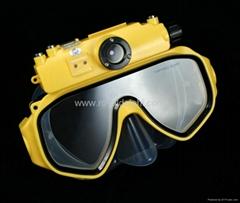 HD waterproof diving mask camera