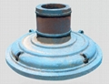 Support roller by sand casting for